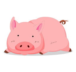Illustration of cute pig