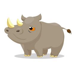 Illustration of cute rhinos