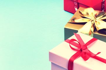 Colorful birthday gift boxes