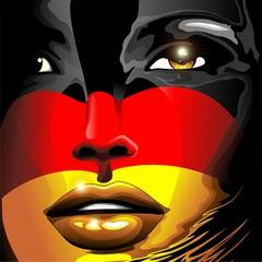 Germany Flag Girl Portrait