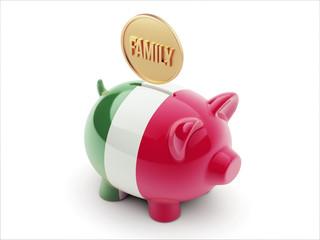 Italy Family Concept Piggy Concept