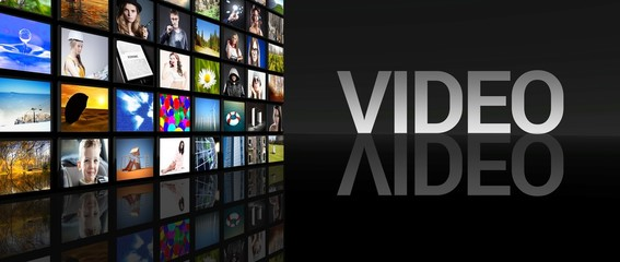 Video Television screens black background
