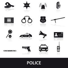 police icons set eps10