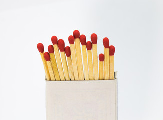 Match in a box in white background
