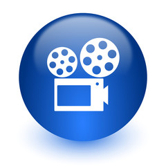 movie computer icon on white background