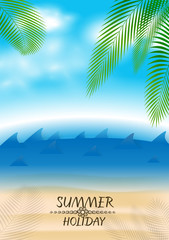 summer holiday abstract background with shore and view on ocean