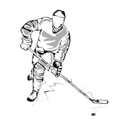 Hockey player sketch