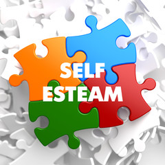 Self Esteem on Multicolor Puzzle.