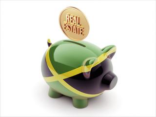 Jamaica Real Estate Concept Piggy Concept