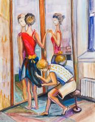 Tailoring of a ball dress