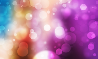 colorful light blur Bokeh background