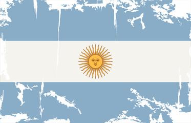 Argentine grunge flag. Vector illustration