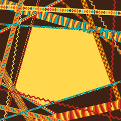 Ethnic abstract geometric background from decorative strips.