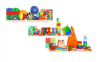 Shelf with toys