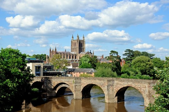 Cathedral and bridge, Hereford © Arena Photo UK