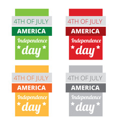 set of american independence day