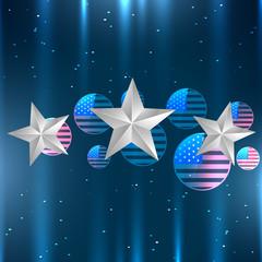 shiny american flag design