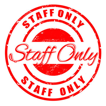 staff only  stamp
