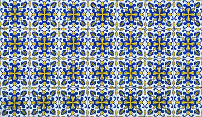 Foto op Canvas Marokkaanse Tegels Azulejos, traditional Portuguese tiles