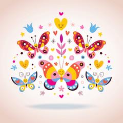 Cute butterflies vector illustration