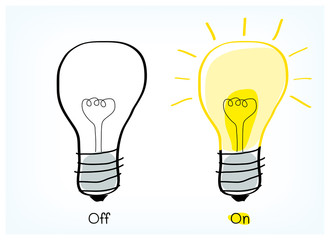 On and off light bulb idea