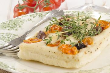 mediterranean flat bread with thyme