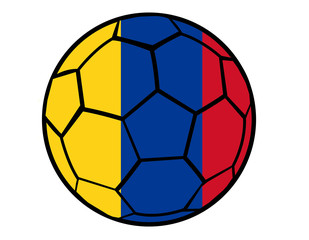 Isolated Clip Art Football With Colombia Flag's Colors