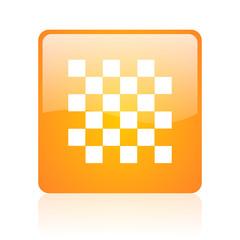 chess computer icon on white background