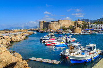 Photo sur cadre textile Chypre Fortress in Kyrenia (Girne), North Cyprus