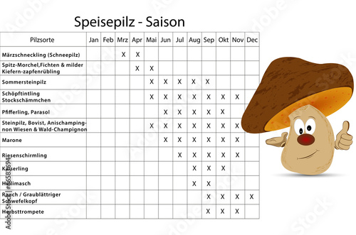 Steinpilze Saison Kalender | Kalender 2020