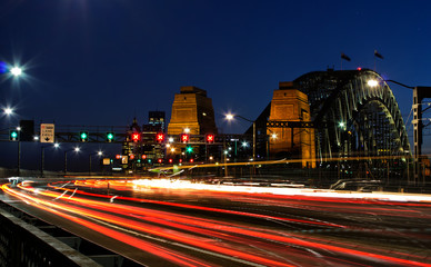 Sydney Harbour Bridge evening rush hour