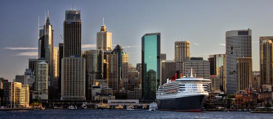 Door stickers Australia Cruise ship in Circular Quay, Sydney