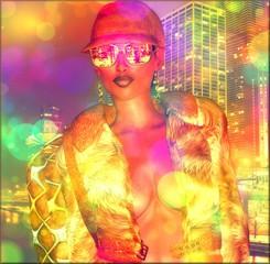 Foto op Plexiglas Beauty Bokeh,abstract,disco girl