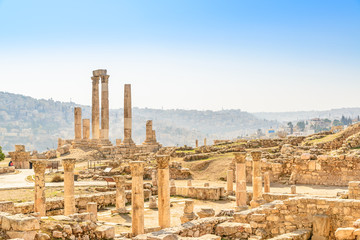 Temple of Hercules on the Citadel Mountain in Amman, Jordan