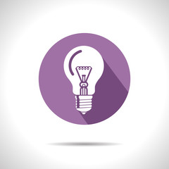Vector lightbulb icon. Eps10
