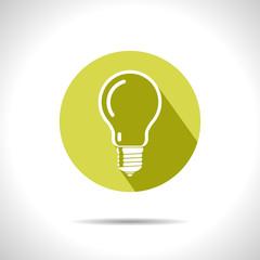 Vector lightbulb icon. Eps10