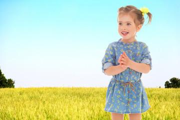 Positive little girl