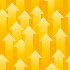 Seamless background consisting of yellow arrows