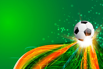 Brazil Background With Ball and light