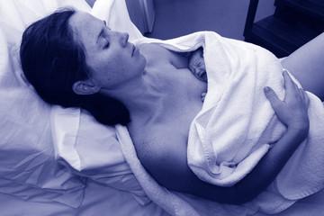 Pregnancy - pregnant woman and newborn