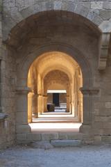 Fototapeta In the castle of Rhodes