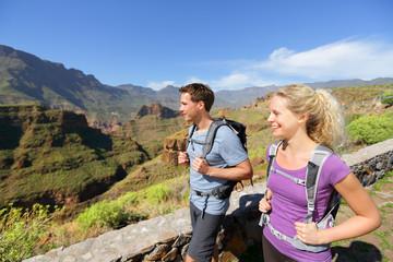Hiker couple hiking on Gran Canaria