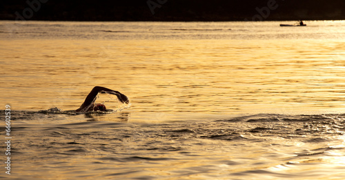 Sunrise ocean swim at Balmoral, Sydney