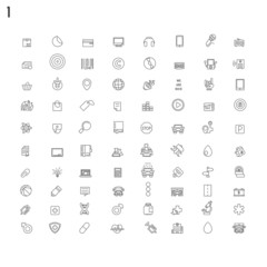Line flat icons