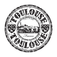 Toulouse grunge rubber stamp