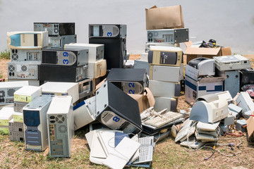 Pile of old computers