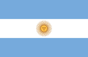 High detailed flag of Argentina Wall mural