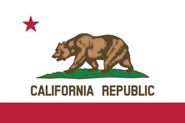 High detailed flag of California