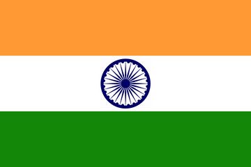 High detailed flag of India Fotomurales