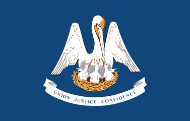 High detailed flag of Louisiana